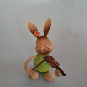 Kunststube Siegel Kuhnert Stupsi Hase mit Geige