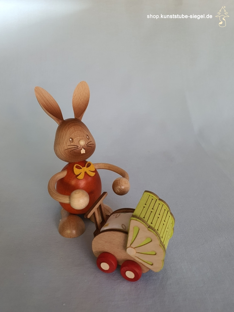 Kuhnert Stupsi Hase mit Kinderwagen