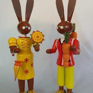 Kunststube Siegel Legler farbiges Hasenpaar