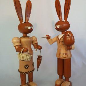 Kunststube Siegel Legler naturfarbenes Hasenpaar