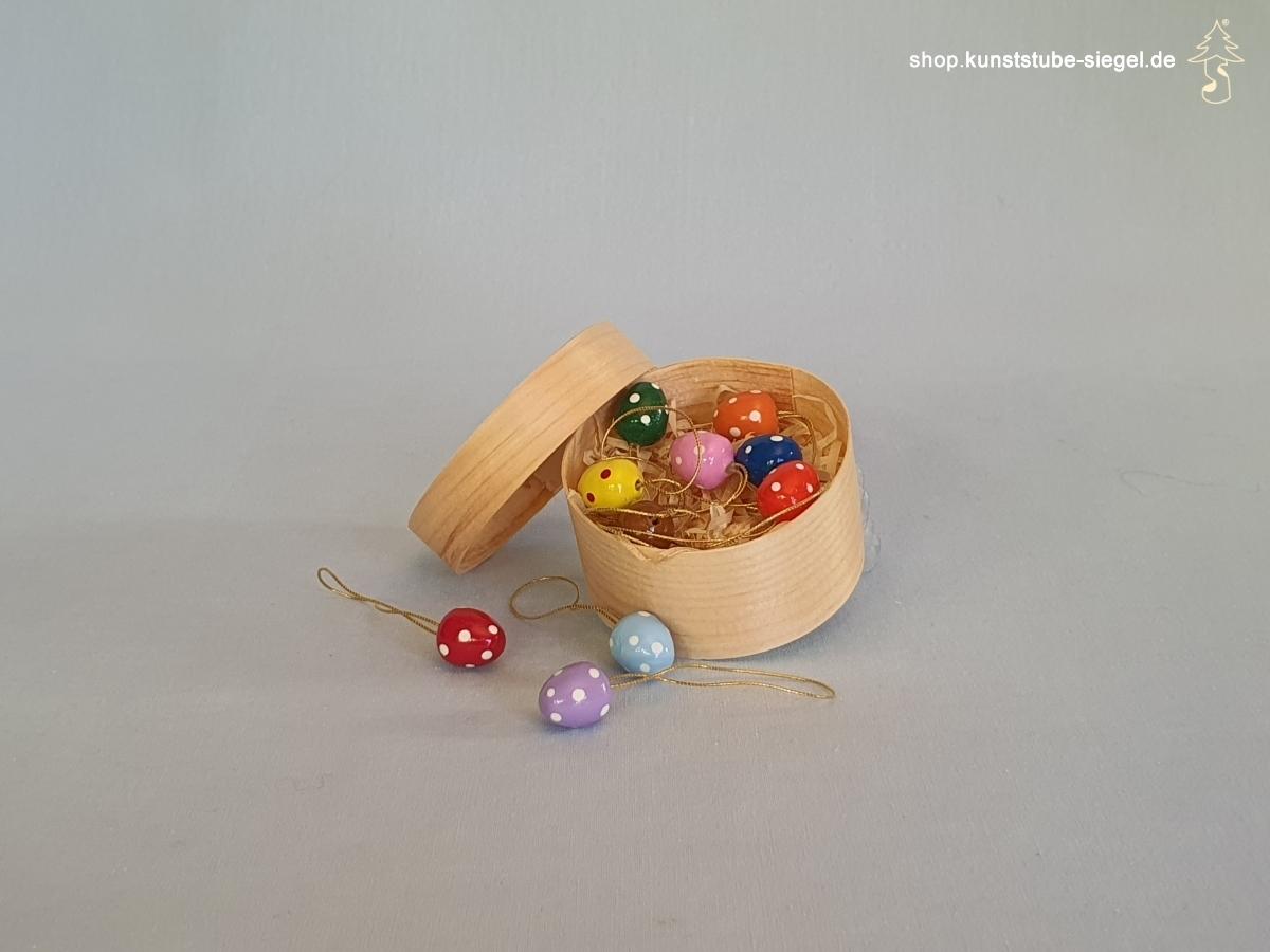 Baumbehang Ostereier Mini in der Spanschachtel