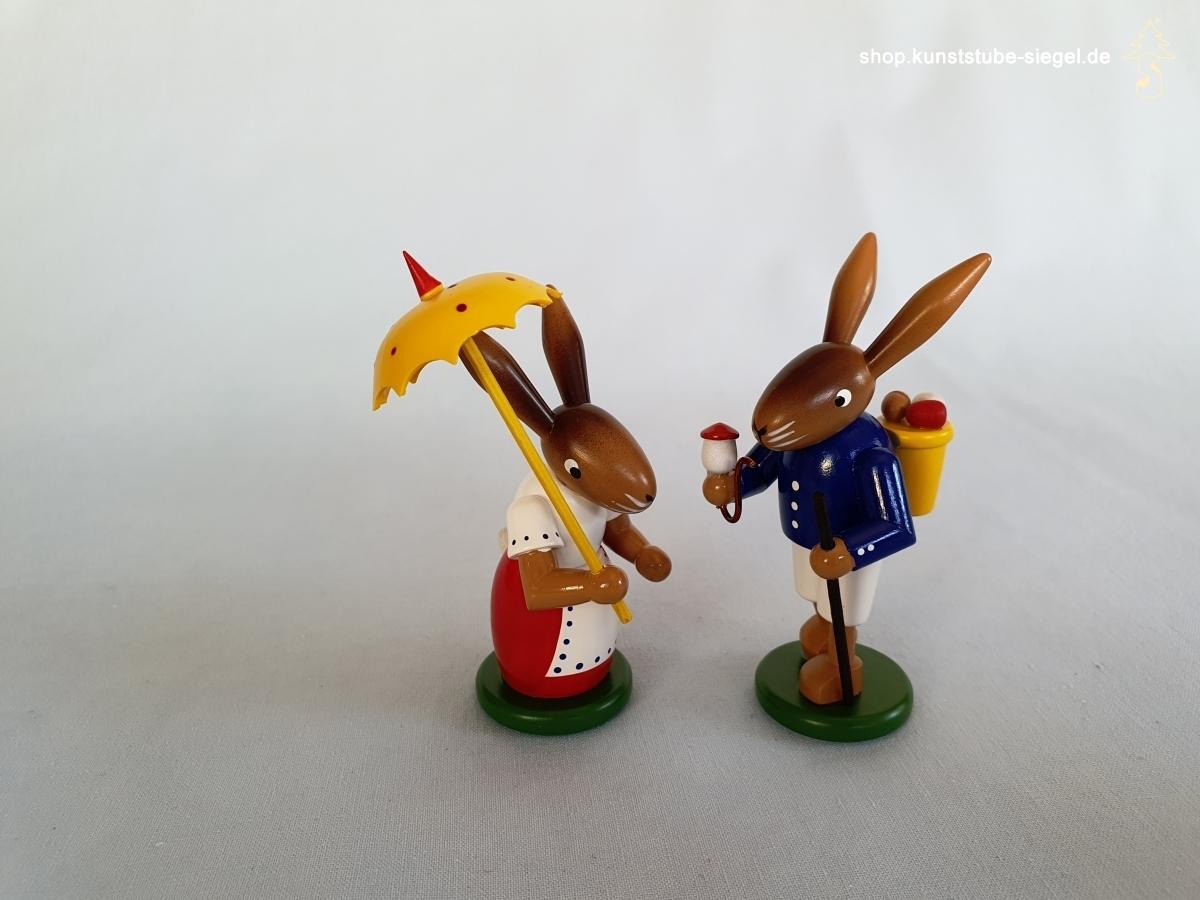 Hasenpaar farbig