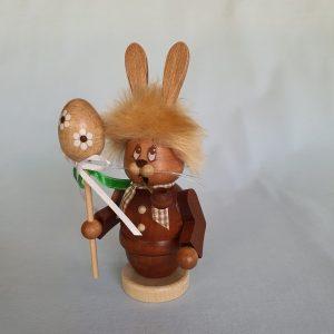 Kunststube Siegel Miniwichtel Hase mit Stab