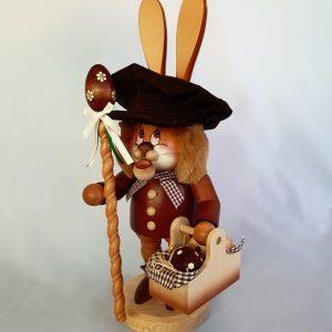 Kunststube Siegel Wichtel Räucher Hase mit Eierkorb groß