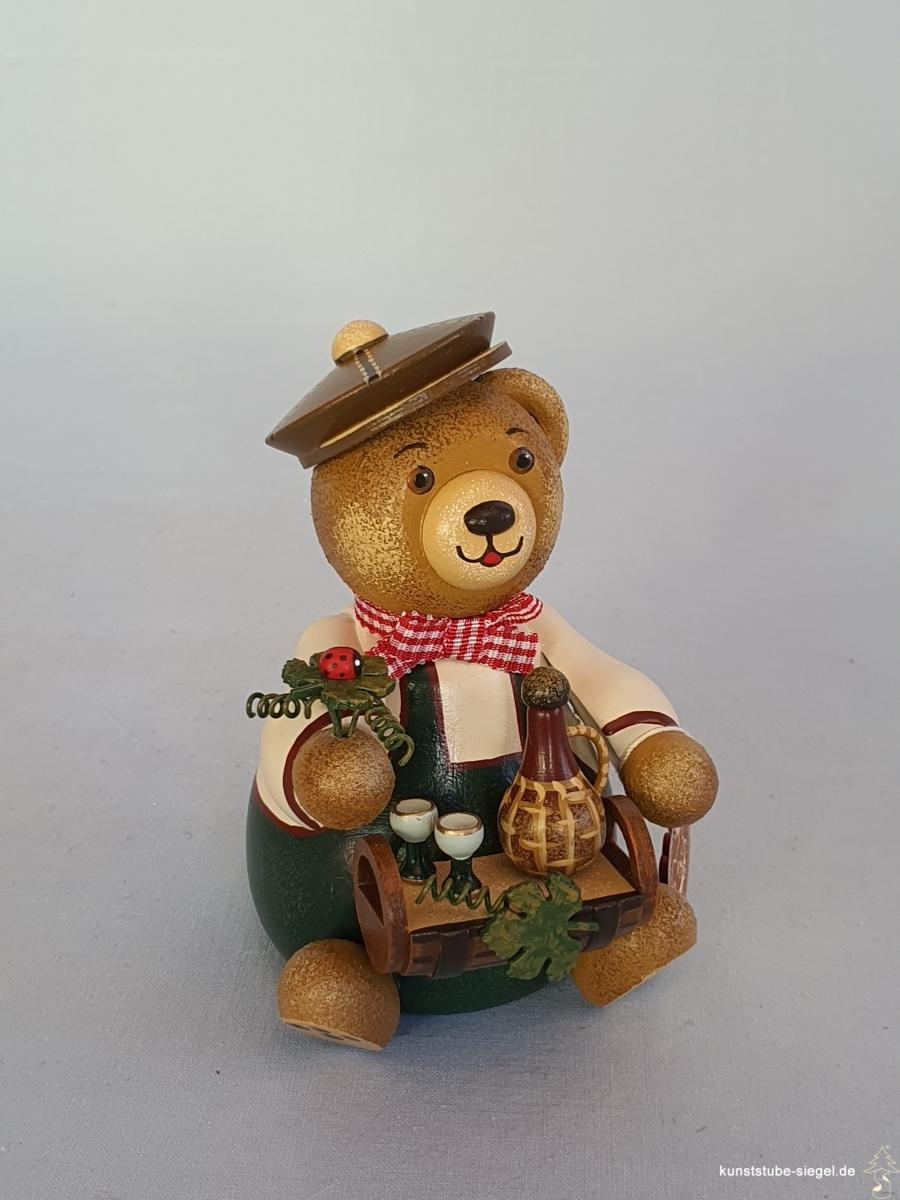 Hubrig Hubiduu Teddybär Weinliebhaber