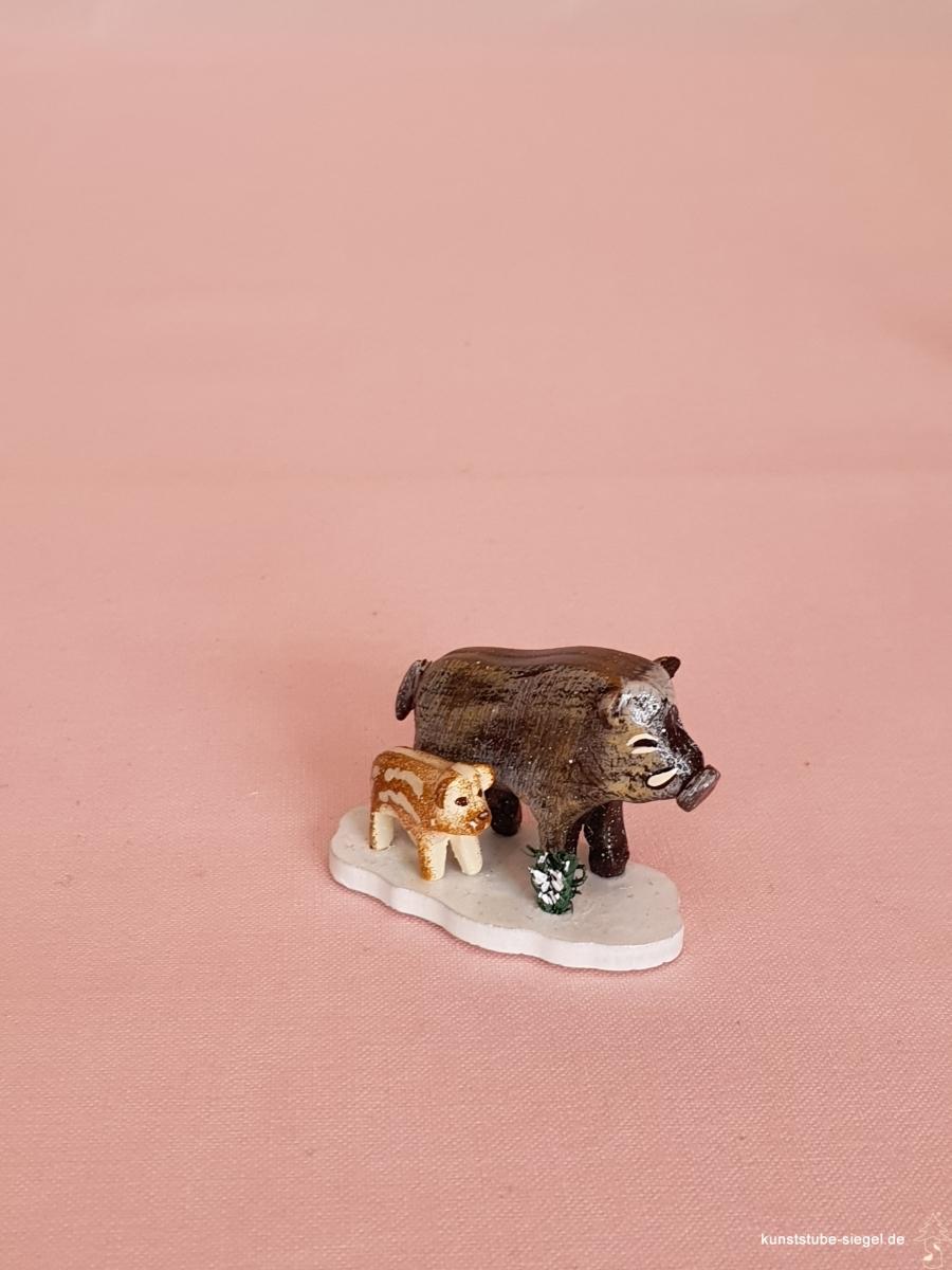 Hubrig Wildschweine Winterkinder