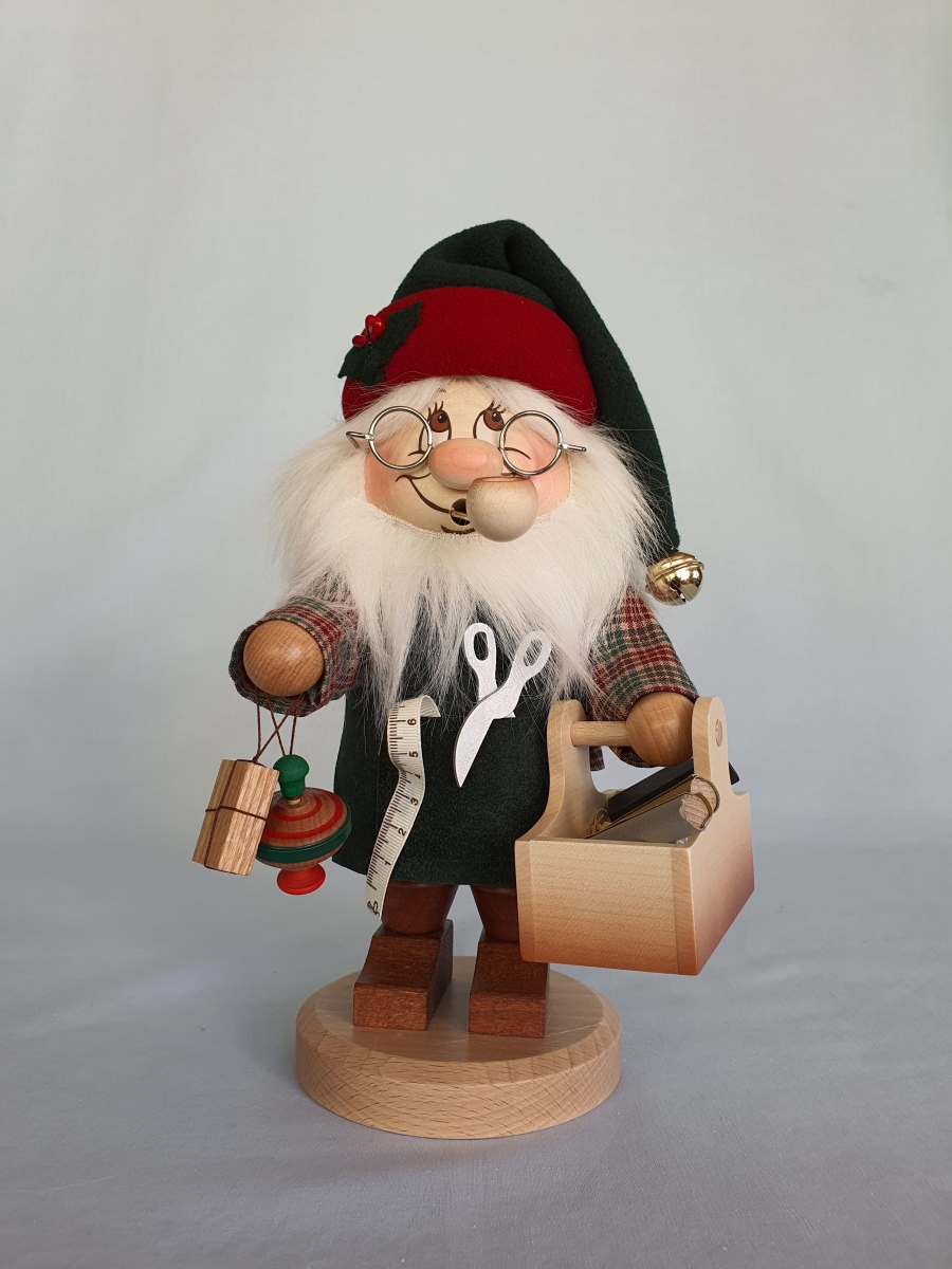 Wichtel groß Weihnachtsmann Räuchermann