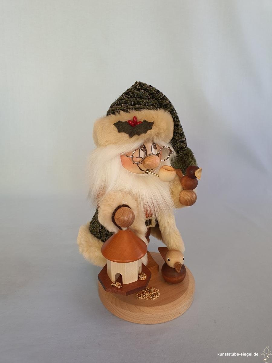 Wichtel groß Weihnachtsmann Vogelfütterung Räuchermann