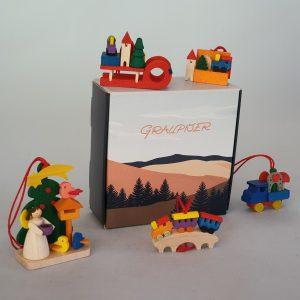 Kunststube Siegel baumbehang-kinderlaecheln-5er-set-in-der-geschenkebox