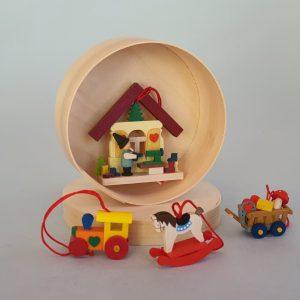 Kunststube Siegel baumbehang-weihnachtsfreuden-4er-set-in-der-spanschachtel