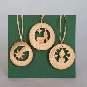 Kunststube Siegel baumbehang-weihnachtsmotiv-klein-3er-set