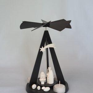 Kunststube Siegel pyramide-mini-delta-black-mit-christi-geburt-klein