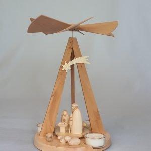 Kunststube Siegel pyramide-mini-delta-natur-mit-christi-geburt-klein