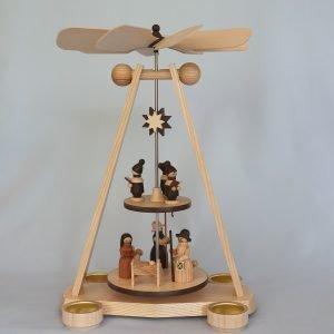 Kunststube Siegel teelichtpyramide-zweistoeckig-christi-geburt-natur